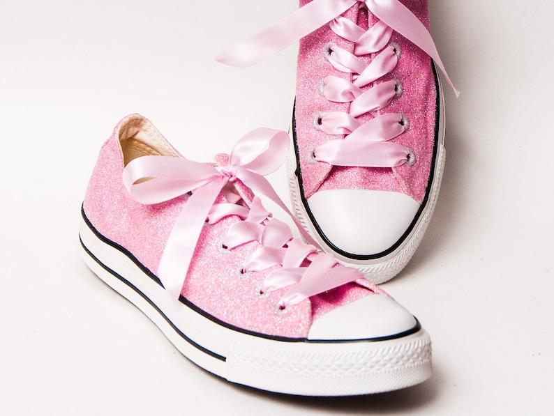 175e87453e3b Glitter Bubblegum Pink Canvas All Star Low Top Sneakers