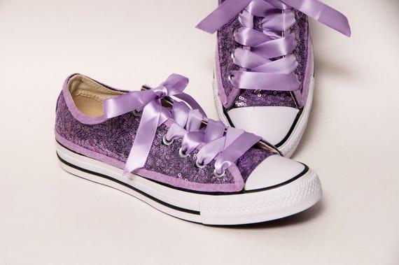 74476d7da709 Sequin Full Lavender Purple Low Top Canvas Sneaker Shoes
