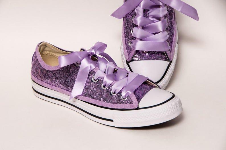 8e44022e47d5 Bridal Favorite Lavender Starlight Sequin Converse Low Top
