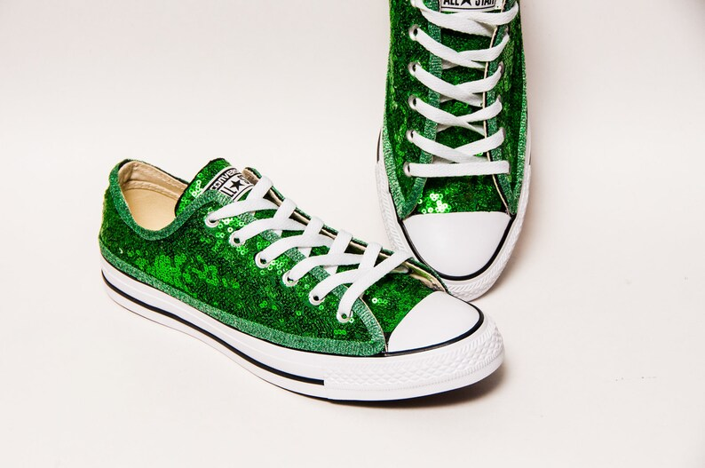 8f82e9be32f6 Kelly Green Starlight Sequin Converse® Low Top Sneakers