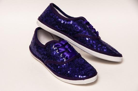 Purple Starlight Sequin Sneakers