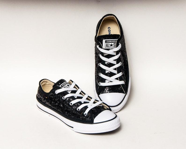 95383f4e0d4b6 Jeunesse petites paillettes Starlight Converse® noir toile