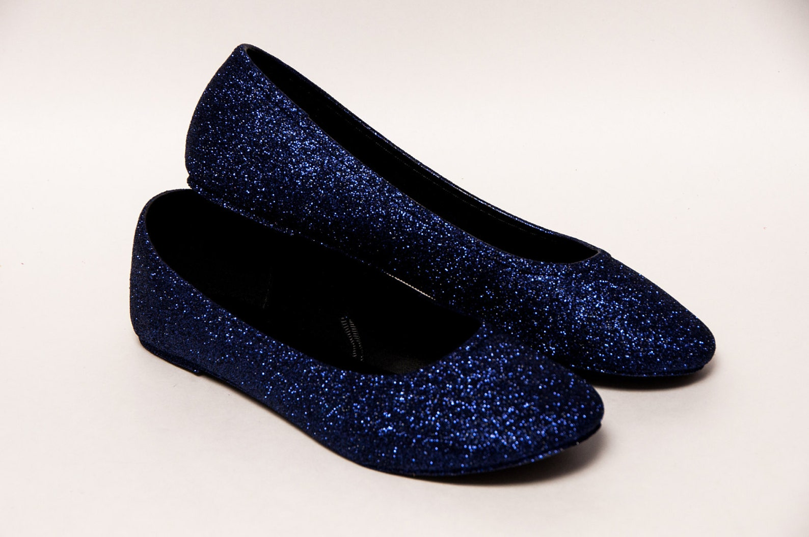 purple shadow glitter ballet flats