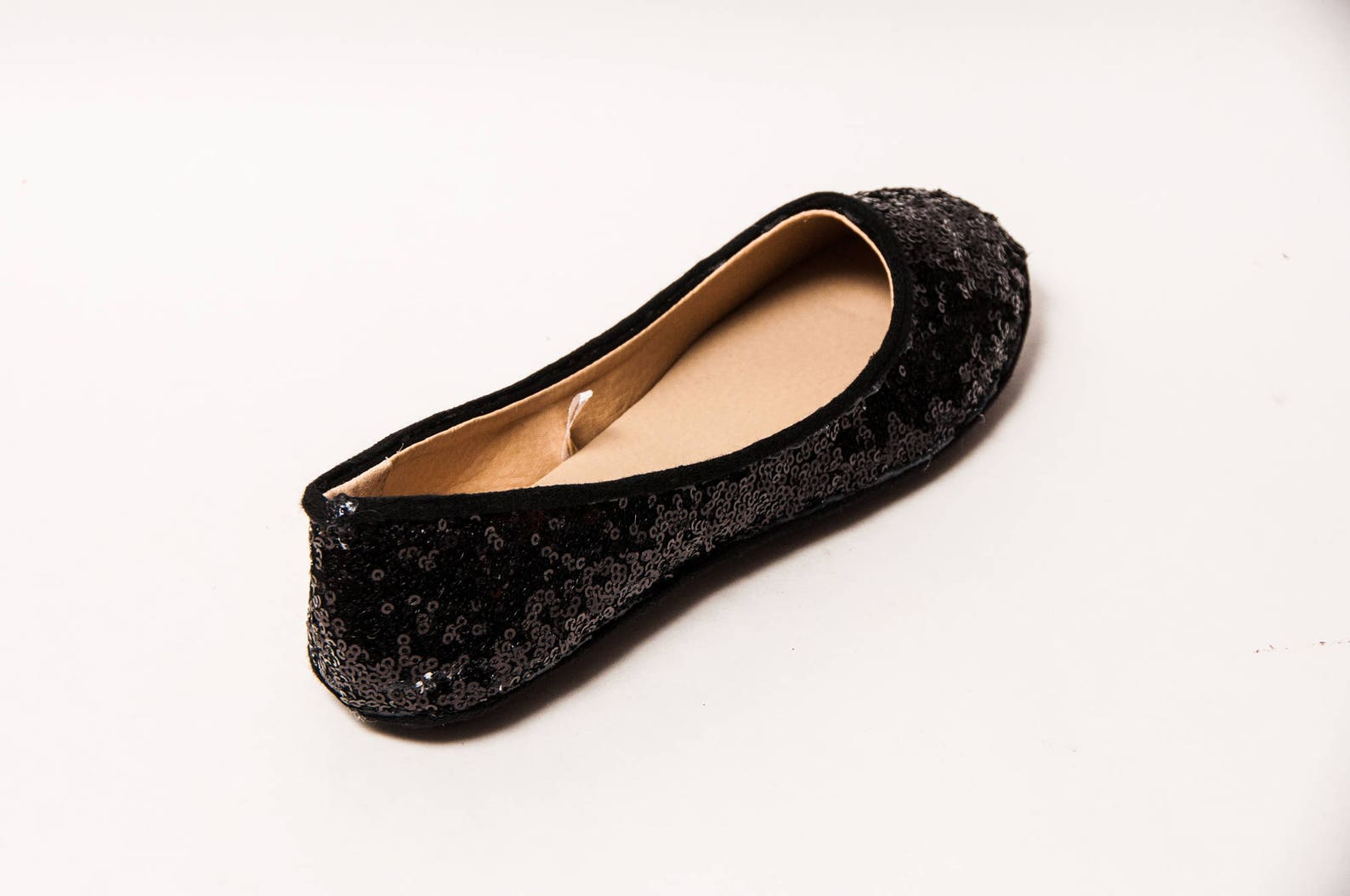 tiny sequin - starlight obsidian black ballet flats slippers shoes by princess pumps