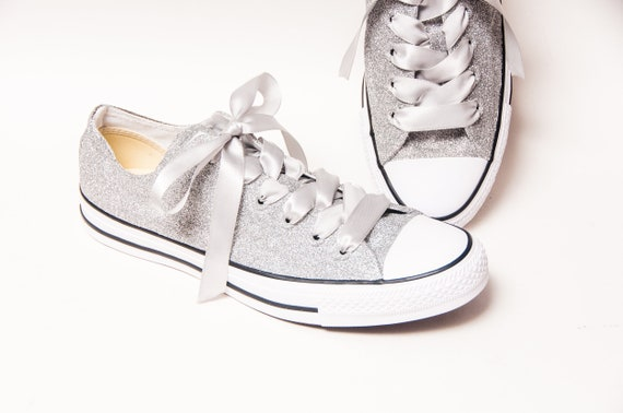 ... watch 585bd b9ebf + SLIME new sneaker a1637 06baa Glitter Sterling  Silver Canvas Converse® All ... 5bdfed820d