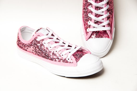 2effc41e800e9d Tiny Sequin Starlight Blush Pink Over White Converse®