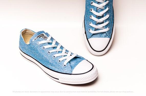 blue glitter converse