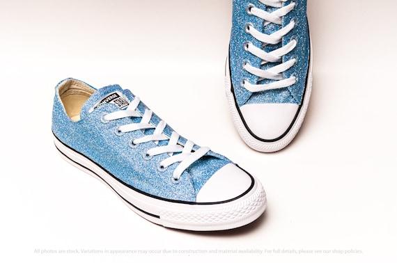 blue glitter converse shoes Online