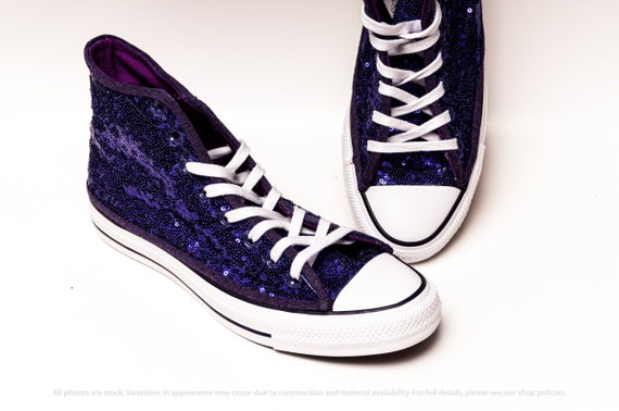Lila Pailletten Converse® High Top Sneakers