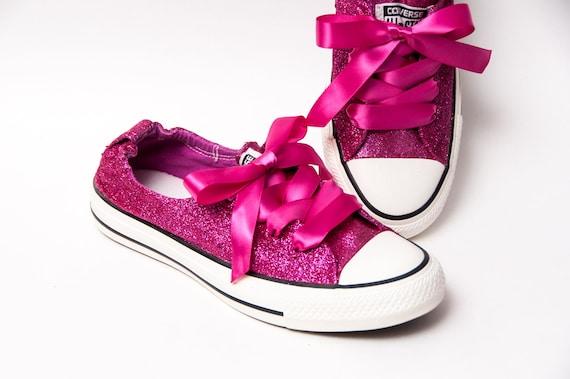 Glitter Raspberry Pink Sparkly Canvas Shoreline Converse®  dddd1a74a