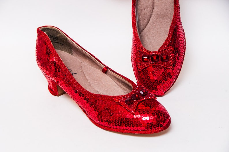 e21c03ea8f80 Red French Heels Sequin Shoes