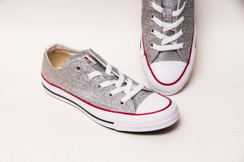 ff039afe10 Custom Create Your Own Color Glitter Canvas Converse® All Star