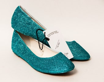 Ready 2 Ship - Size 11 Sky/Malibu Blue Ballet Flats Slippers Shoes
