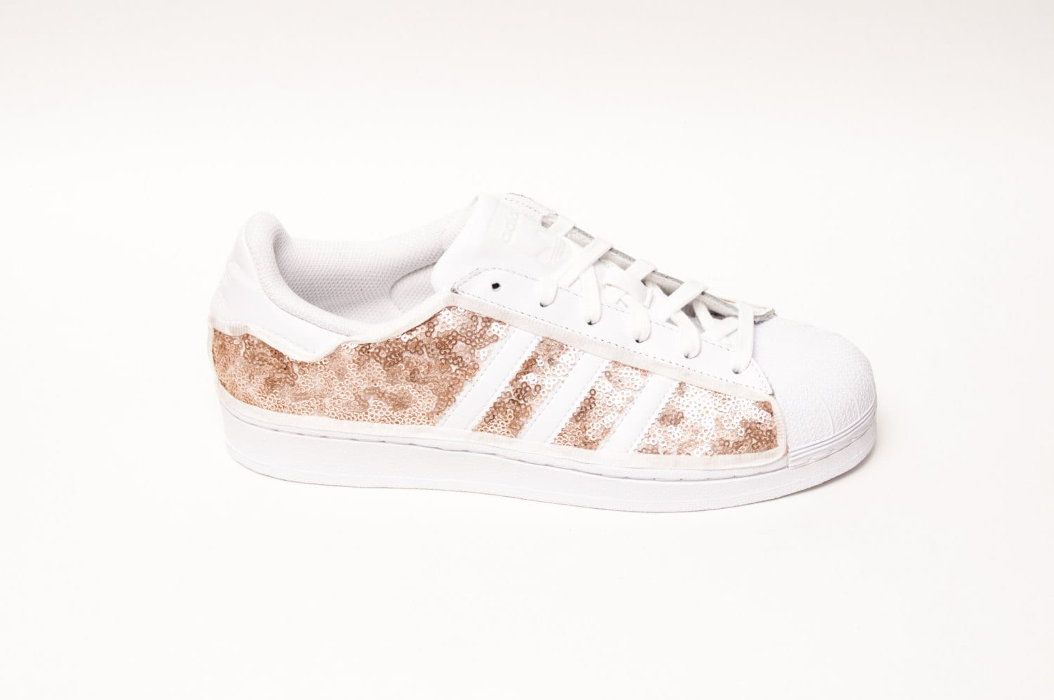c6a0f82caaccc Tiny Sequin Starlight Champagne Gold Adidas Superstars