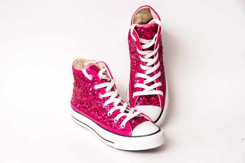 45c9a3052e0ac Youth Sequin Starlight Pink Converse® High Tops