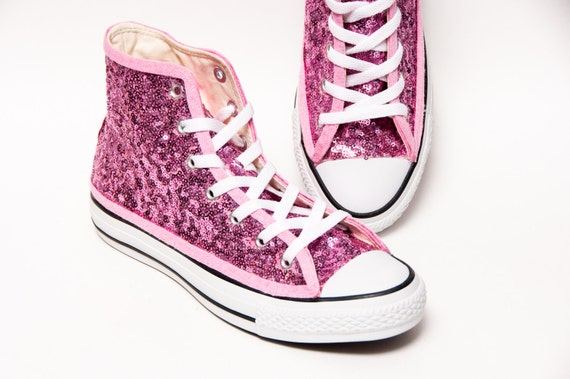 Blush Pink Starlight Pailletten Converse® High Top Sneakers