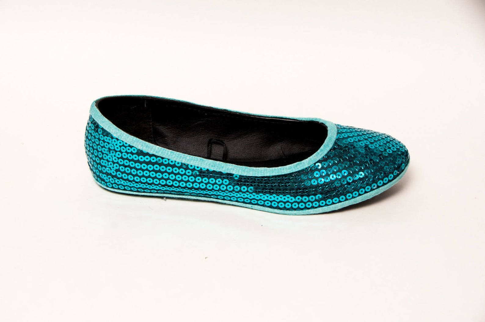 sequin - jade green blue ballet slipper flats custom shoes by princess pumps