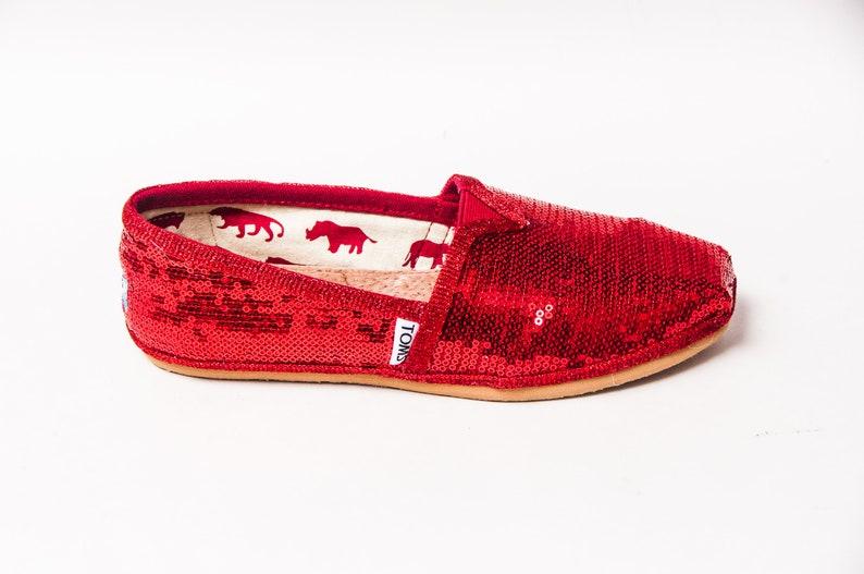 d938bb24713 Red Sequin Alpargata Toms® Canvas Classics Shoes