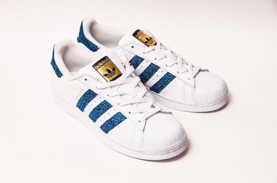 Glitter Starlight Blue Adidas Superstars II Fashion Sneakers chaussures