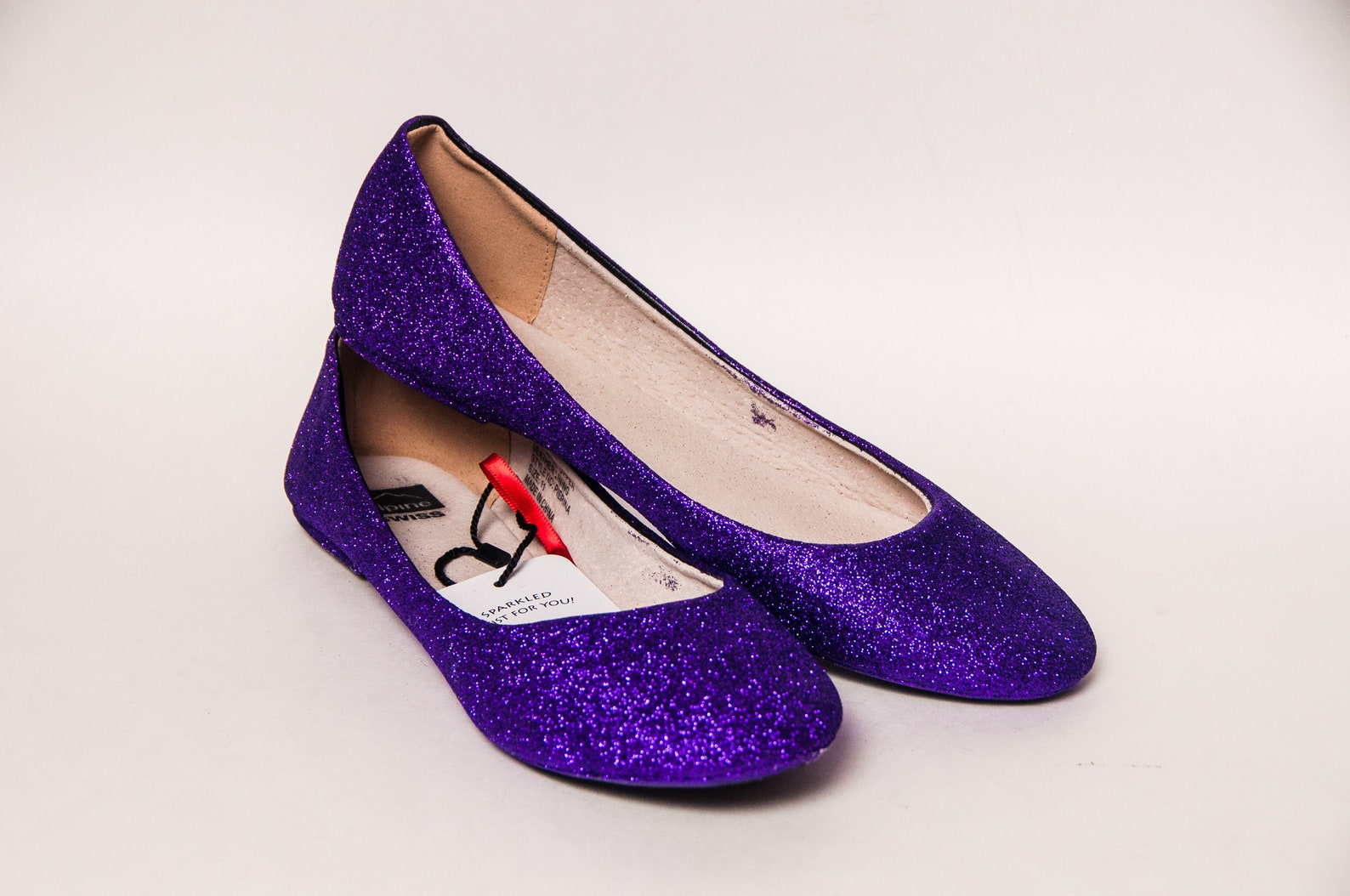 ready 2 ship - size 11 purple passion ballet flats slippers shoes