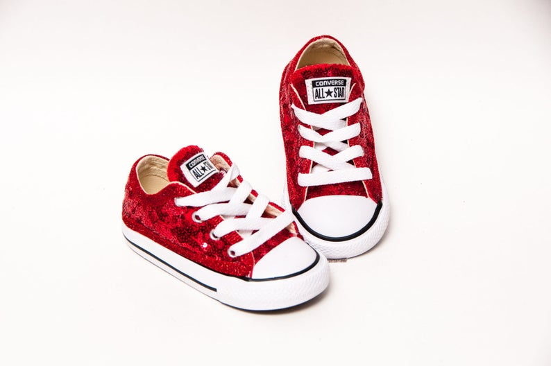 1bd1e91a5b8576 Toddler Tiny Sequin Size Red Converse® Customized Canvas
