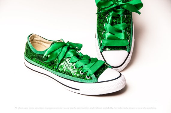 Bridal Favorite! Kelly Green Converse® Canvas Low Top Sneakers