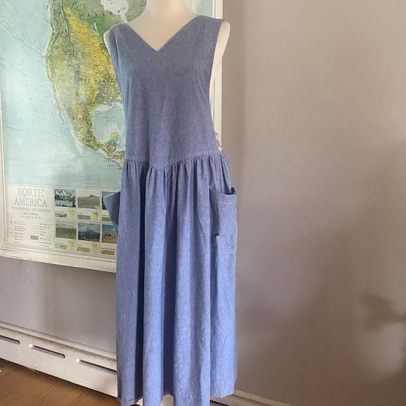 80s Denim Jumper Dress