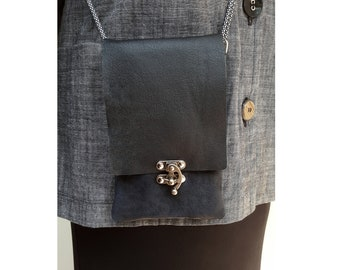 iPhone crossbody purse, leather cellphone bag, case, phone holder, leather cell phone purse, black, adjustable straps, travel bag, Engayla