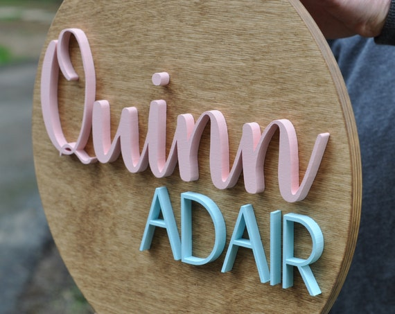 "Personalized Name Sign, 14"" Diameter"