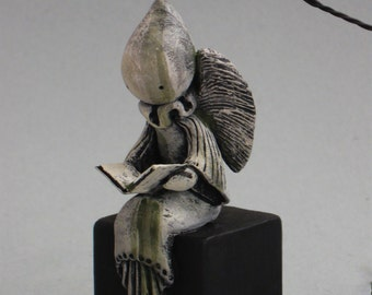 A Stone Angel Named Grace - Numbered Multiple Original Sculpture - 37 - 46 - Lisa Snellings
