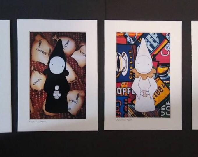 Coffee Poppet Print Set