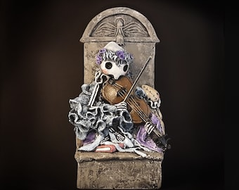NEW! Annie's Violin - Numbered Limited Edition of 100 -  Sculpture by Lisa Snellings