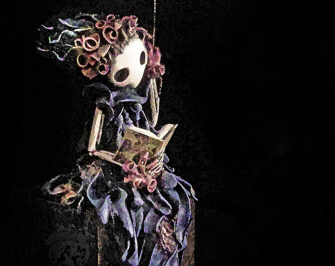 RESERVED  for Cobalt - Listing for Annie's Story - Original Sculpture - Lisa Snellings