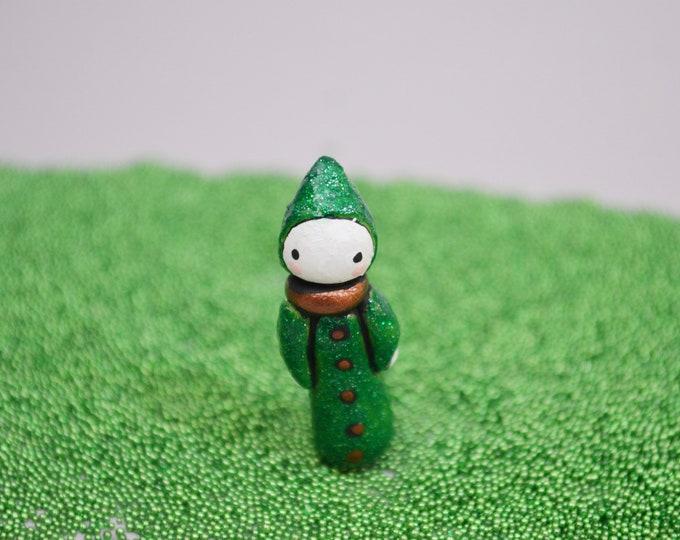 Quantum  Green - Lisa Snellings Mini Poppet