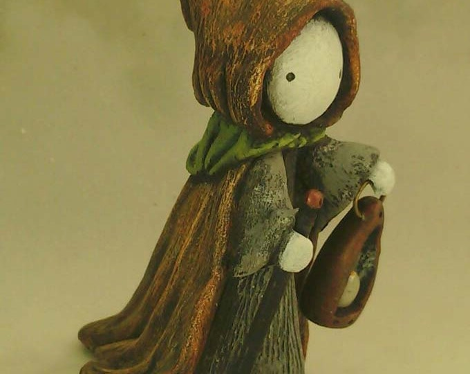 """Tarot Poppet - """"The Hermit""""  Limited Edition Tarot Poppet  by Lisa Snellings  #18/100"""