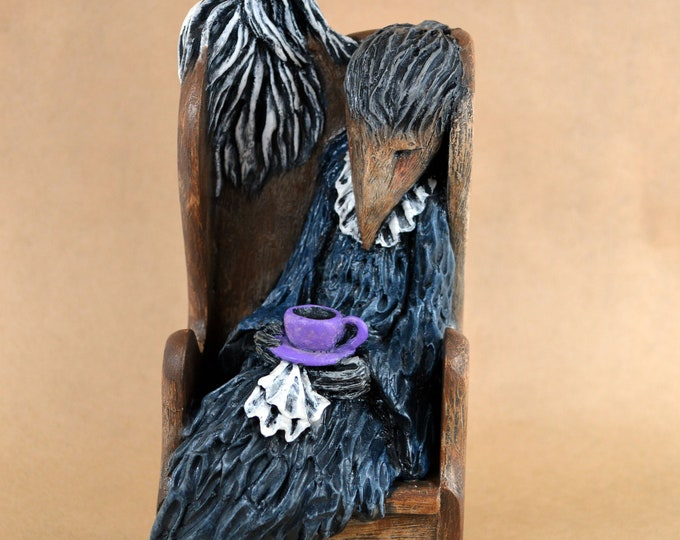 Myrtle's Ghost and a Cup of Tea - An original sculpture by Lisa Snellings