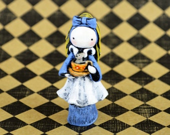 Poppet Plays Alice. In Wonderland. A Numbered, Limited Edition of Fifty  by Lisa Snellings