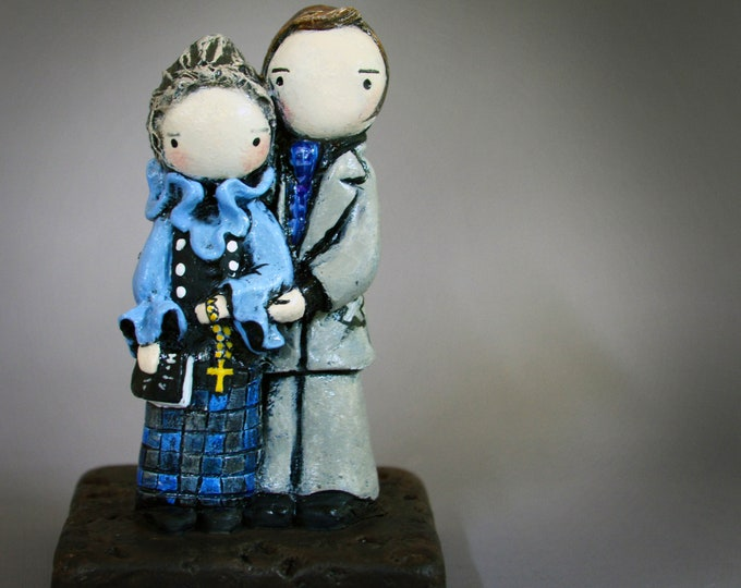NEW! Ed and Lorraine Warren, Paranormal Investigators - Limited Edition Poppet Sculpture