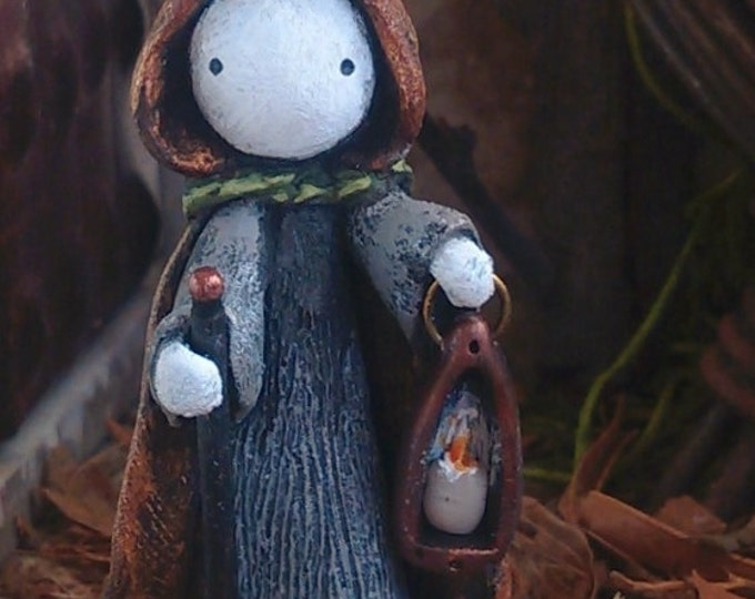 """Tarot Poppet - """"The Hermit""""  Tarot Poppet  by Lisa Snellings  #19/100 Patron coupon!"""
