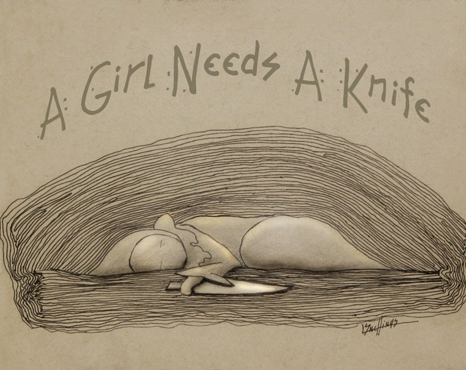 A Girl Needs a Knife  Limited Edition  of 250  - Lisa Snellings