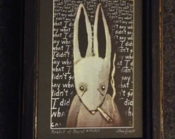 Regret is a Rabbit - Framed Limited Edition Print #14/250