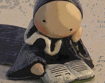 """Poppet Poster (Digital Download)  """"Don't Bug Me, I'm Reading""""  - Lisa Snellings"""