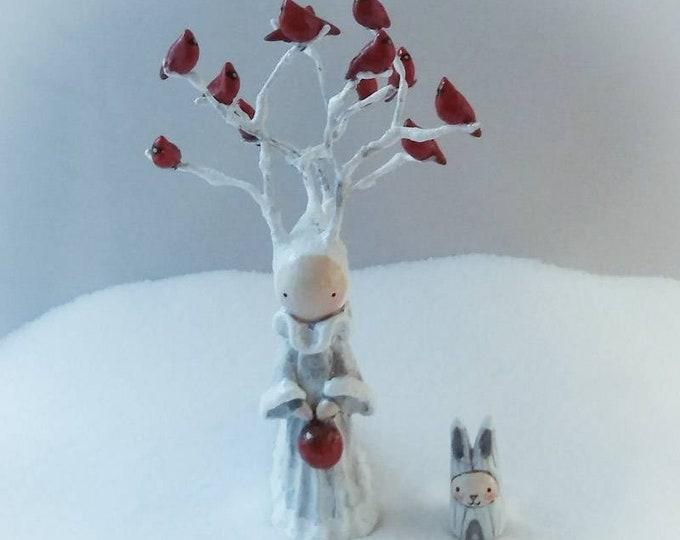 2018-19 Winter's Queen- Hand sculpted Poppet and Bibbit Set