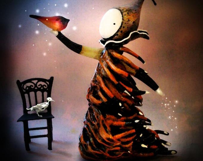 Bird Tricks - Limited Edition Print --#1/50 -Lisa Snellings