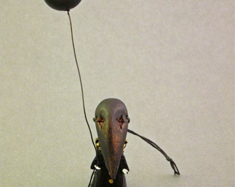 Crow Mask Funeral Poppet - Lisa Snellings