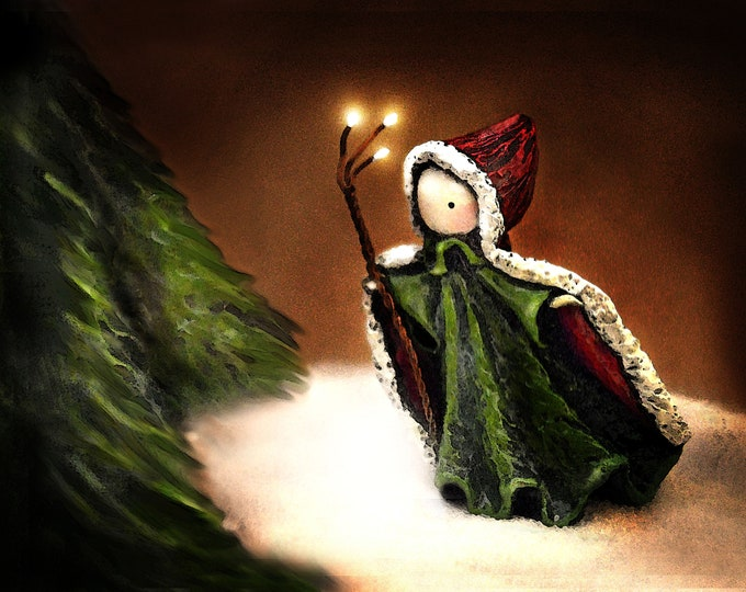 Poppet Enters the Emerald Forest - Limited Edition Print - Lisa Snellings