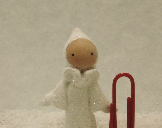 Tiny  Snow Poppet - by Lisa Snellings