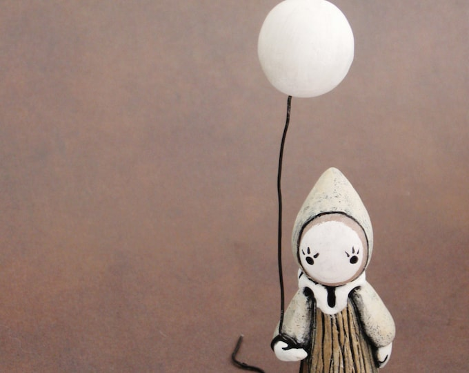 The Mushroom Clown Poppet - With Balloon - Lisa Snellings