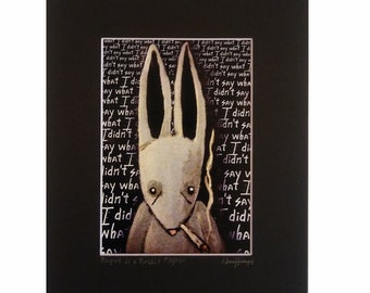 Regret is a Rabbit - Limited Edition Print