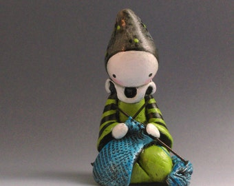Knitting Poppet - Gathering in the Wool